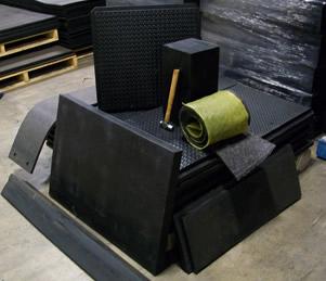 Ballistic Control Rubber Black Iron Rubber Company